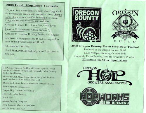 2008 Fresh Hop Tastival Guide