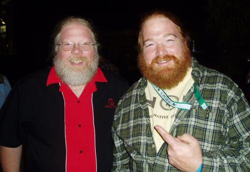 Full Sail Brewmaster John Harris (right) and Beer blogger Charles Culp