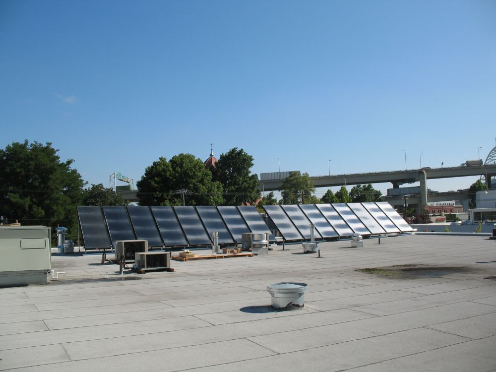 Lucky Lab Thermal Panels atop the Quimby location