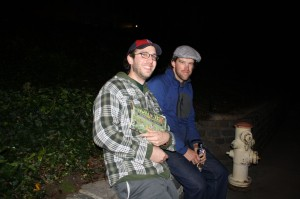 Angelo and Erik enjoy a home brew