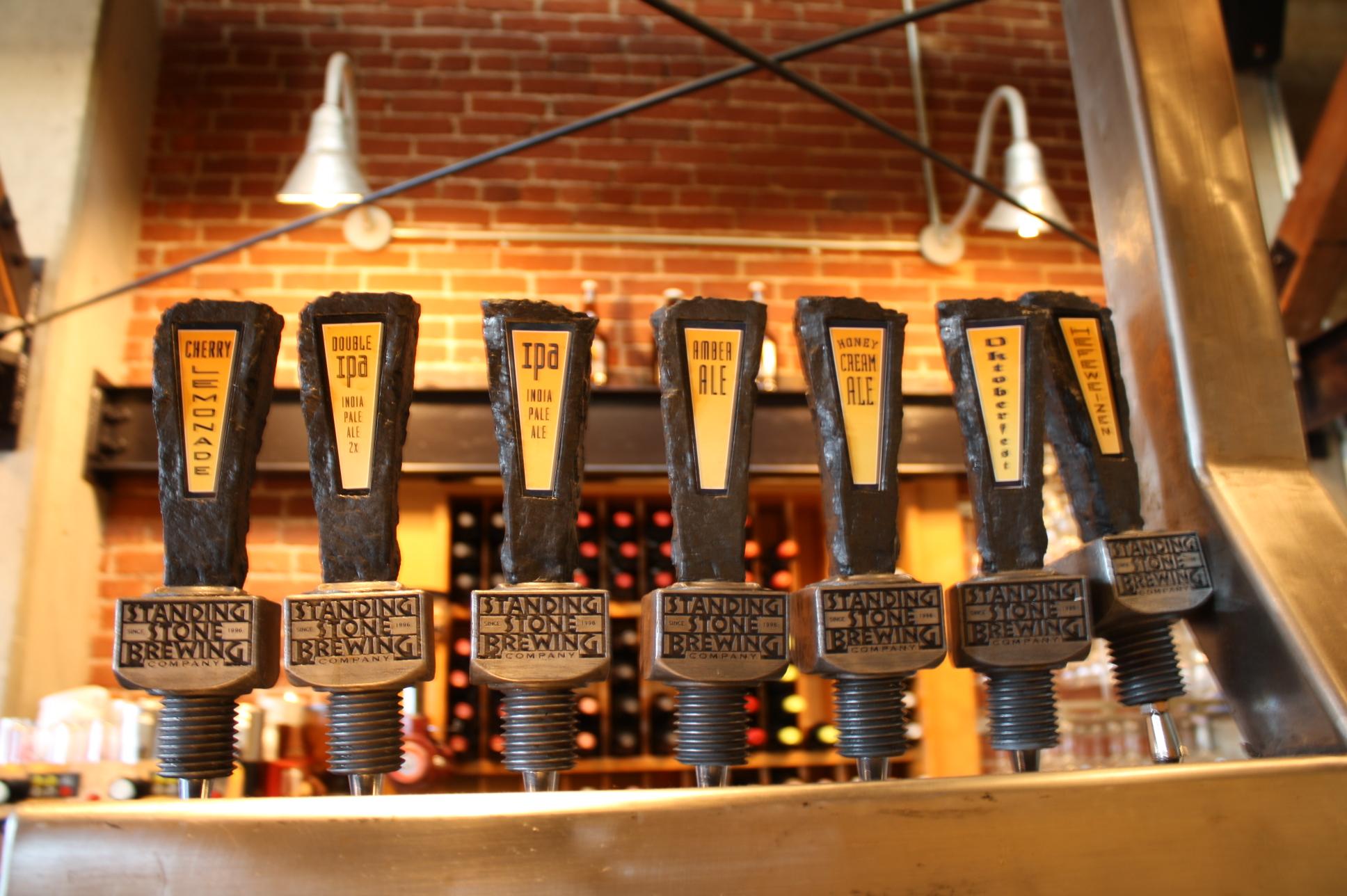 Standing Stone tap handles