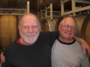 Cascade's Art Larrance (left) and Brewmaster Ron Gansberg
