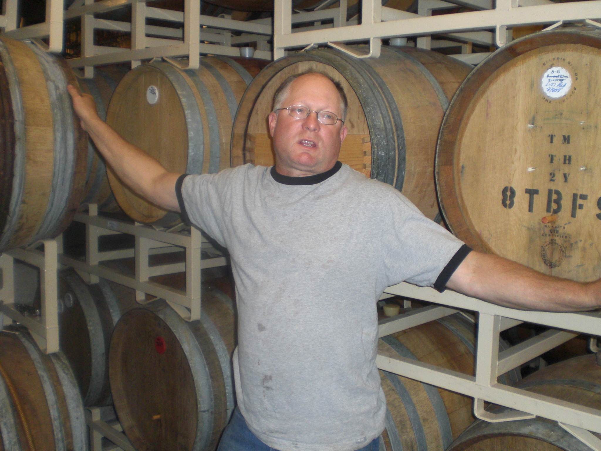 Cascade's underground lair of barrels