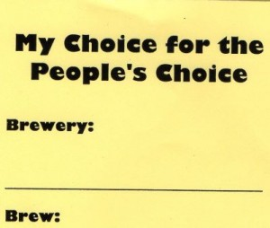People's Choice Ballot