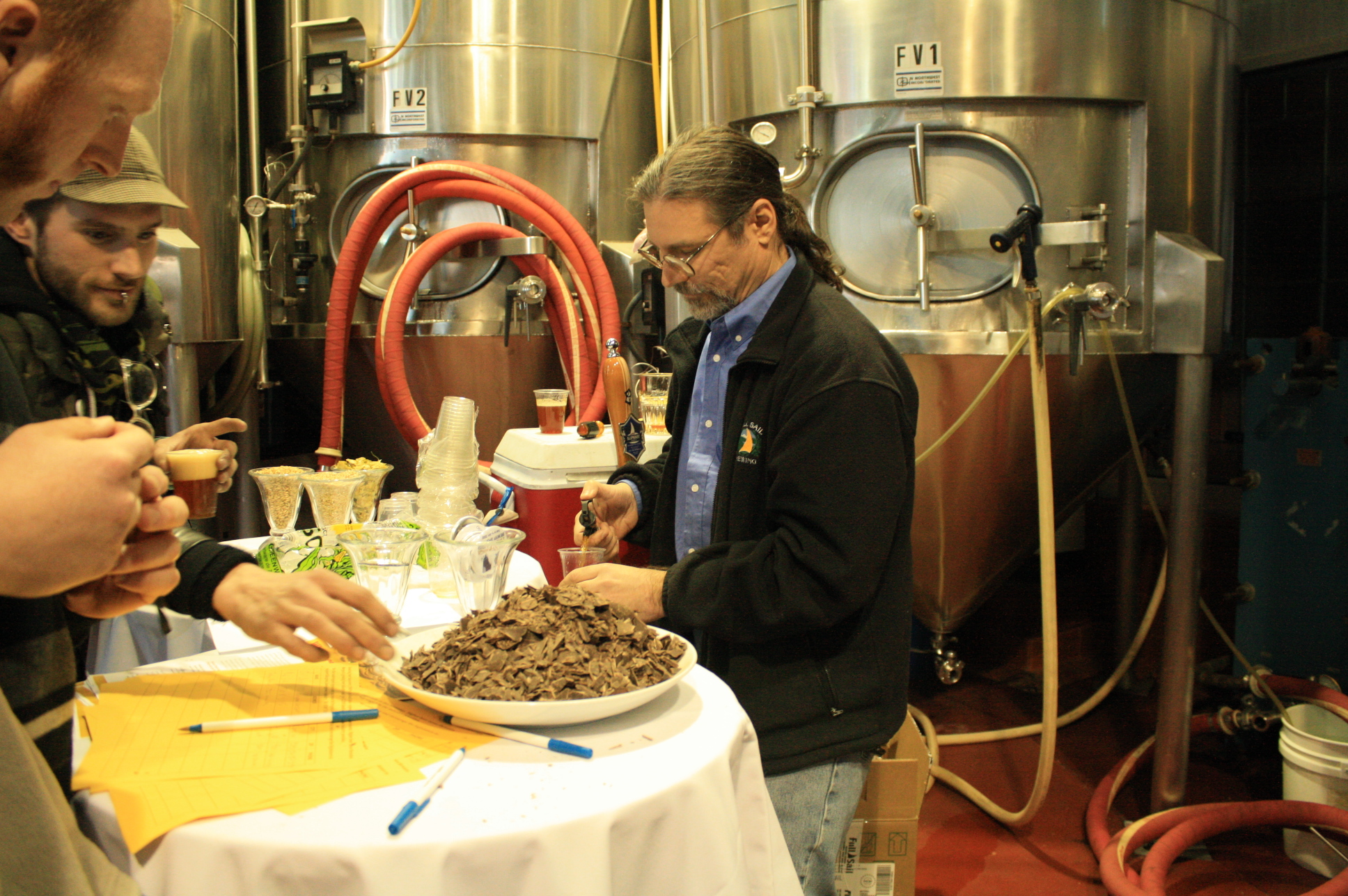 Brewer Phil Roche serves flavorful Full Sail samples