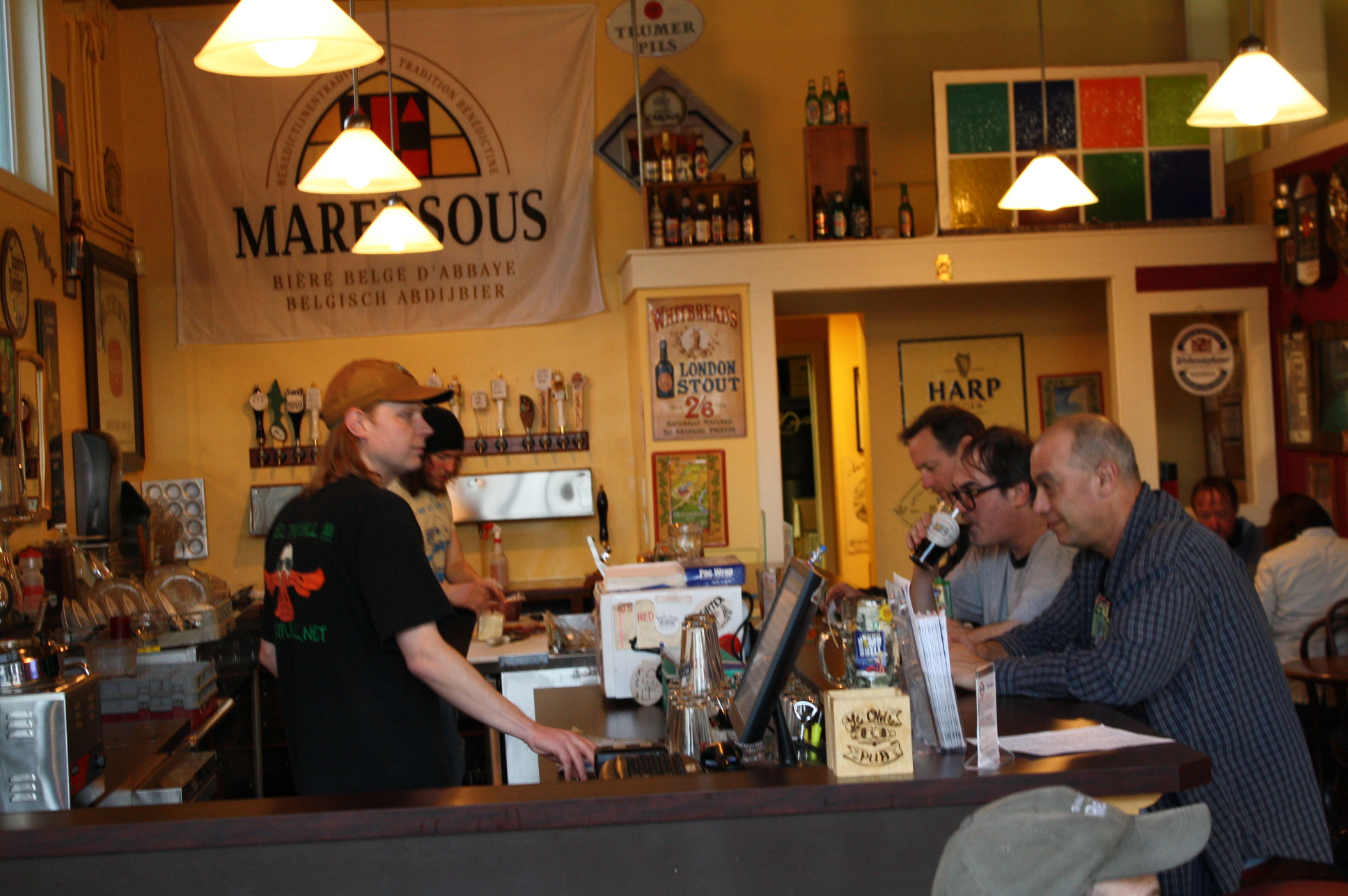 Bartender Paul Fiely serves up the good stuff at Belmont Station