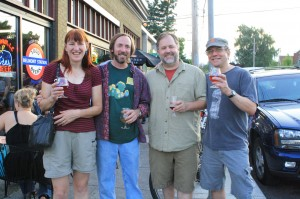 (L to R) Amy Singmaster, Matt Swihart, Charle Devereax, Carl Singmaster