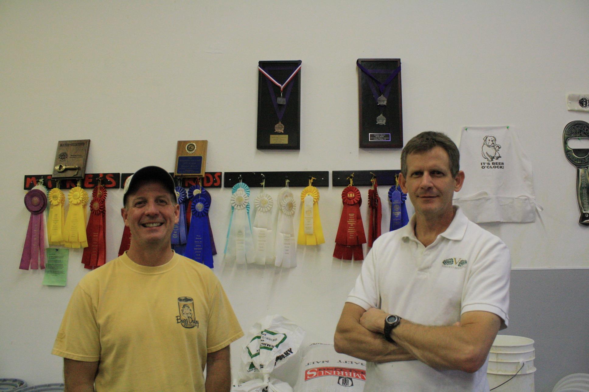 Vertigo Brewers Mike Kinion (left) and Mike Haines (right)