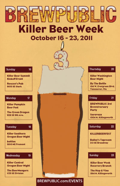 Brewpublic KillerBeerWeek October 16-23, 2011
