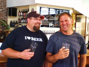 Barley Brown's brewer Shawn Kelso (right) and owner Tyler Brown