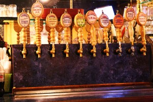 tap handles at Ice Harbor brewpub