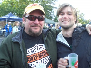 Amnesia owner/brewer Kevin King (left) and brewer Sean Thommen