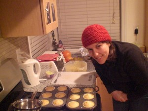 Margaret with her famous Pumpkin muffins