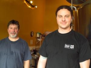 Nick Arzen (right) and Steve Van Rossem of Block 15 Brewing