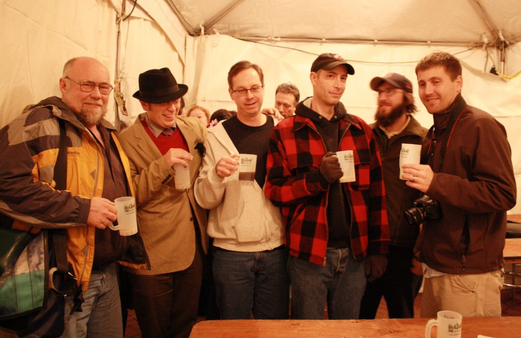 (l to r) John Foyston, Patrick Coleman, Bill Canfield, Jeff Alworth, Angelo De Ieso, Derek Arent