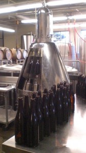 "Cascade Brewing's ""Sputnik"" bottling machine"