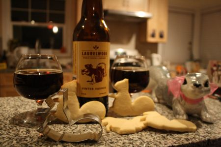 Laurelwood Vinter Varmer with homemade squirrel sugar cookies