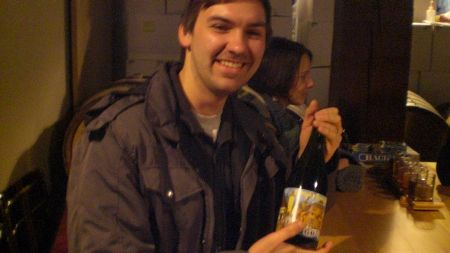 Eric from Beerandscifi.com with his bottle of Gose