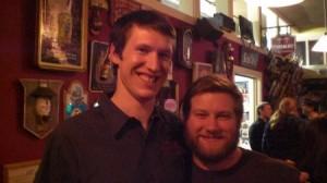 Double Mountain's Kyle Larsen (left) and Full Sail's Cole Hackbarth