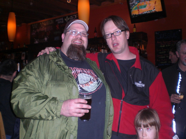 Barley Brown's Shawn Kelso (left) and Laurelwood's Chad Kennedy at Arctic Apocalypse CDA Release