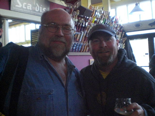 The Beer Here's John Foyston (left) and Lompoc's Dave Fleming