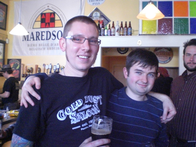 Walking Man brewers Jacob Leonard (left) and Dan Munch