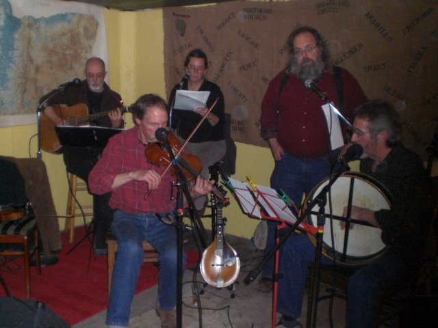 Rendezvous String Band plays at Abram's Robbie Burns party