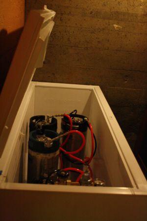 Mt. Tabor Brewing keg fridge