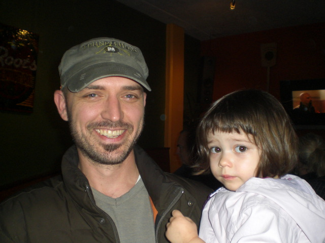 MacTarnahan's head brewer Tom Bleigh and his daughter Stella back in 2010. (photo by Angelo De Ieso)