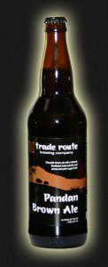 Trade Route Pandan Brown Ale (image from www.traderoutebrewing.com)