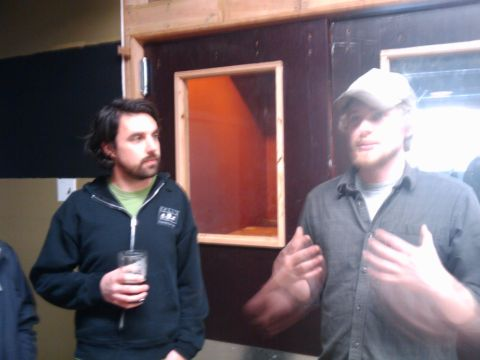 The Daily Pull's Brady Walen (left) and Migration brewer Mike Branes