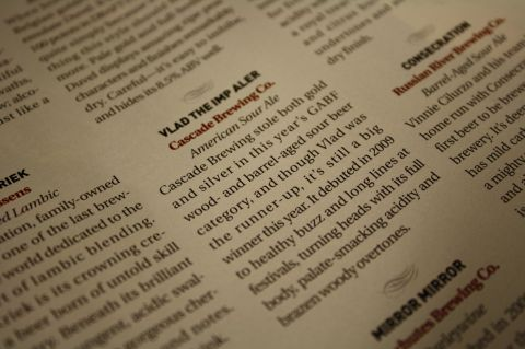 Imp Aler named as one of the best 25 beers of 2009 by Draft Magazine