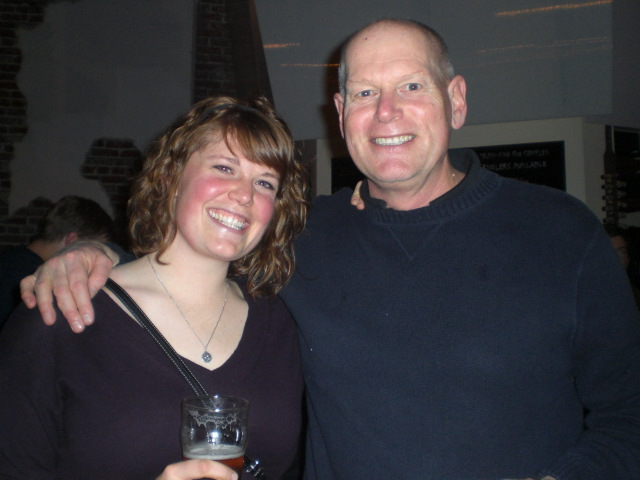 Heater Allen founder and brewer Rick Allen (right) with his daughter and assistant Lisa