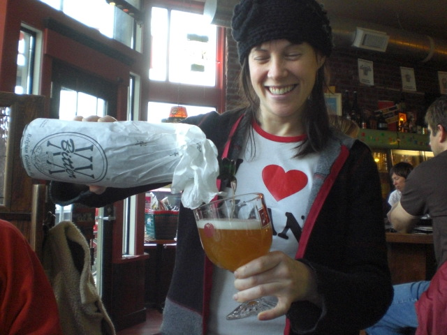 Saraveza founder Sarah Pederson loves great beer...and Ryan
