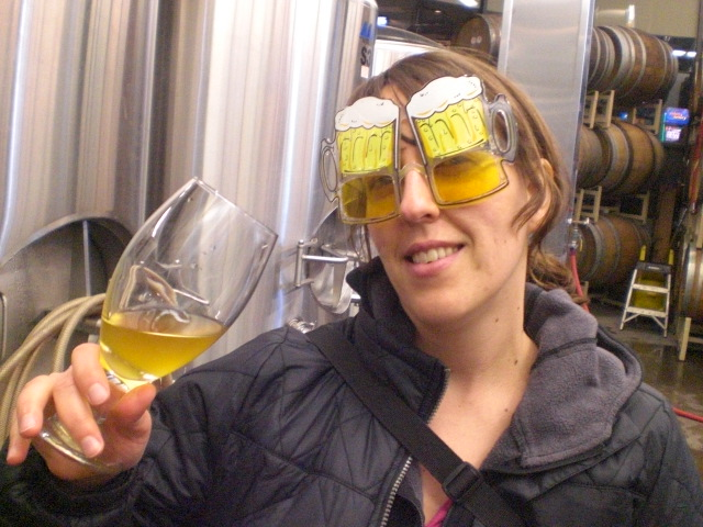 Margaret with her beer goggles on