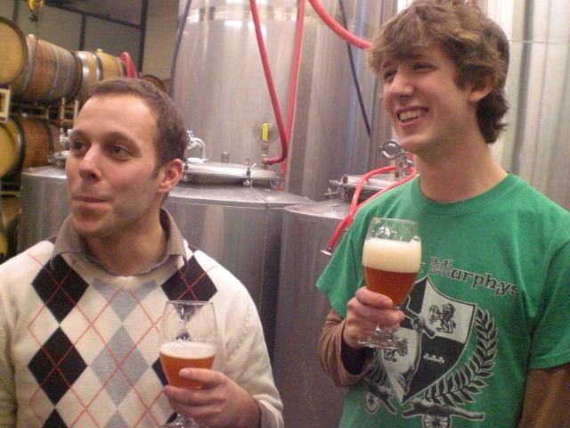 Breakside brewer Ben Edmunds (left) and Joey Bosworth