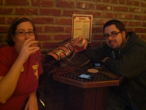 Janel and Jason Smithling: sweethearts who love craft beer.