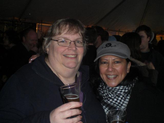 Northwest Brewing News' Jeannie McWilliams (left) and Arlene