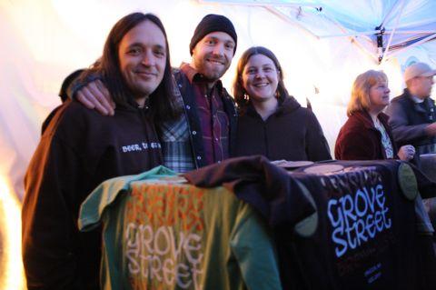 Grove Street Brewing: Jason Dose, Adam Orrick (brewer), Sharon Donaldson