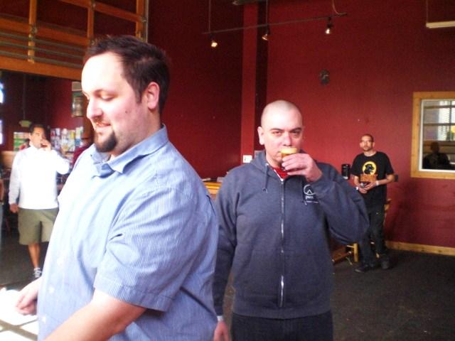 Theo Skourtis (left) and Jim Bonomo at BW + BB Fest 2010