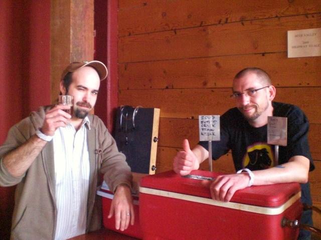 Pyramid brewer Vasilios Gletsos (left) and Lucky Lab brewer/fest organizer Ben Flerchinger
