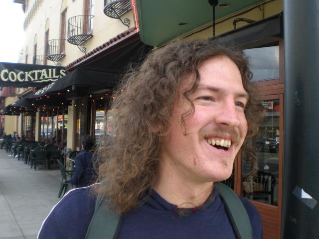 Frank Zappa? No, it's Belmont Station bartender Gerrith Peard.