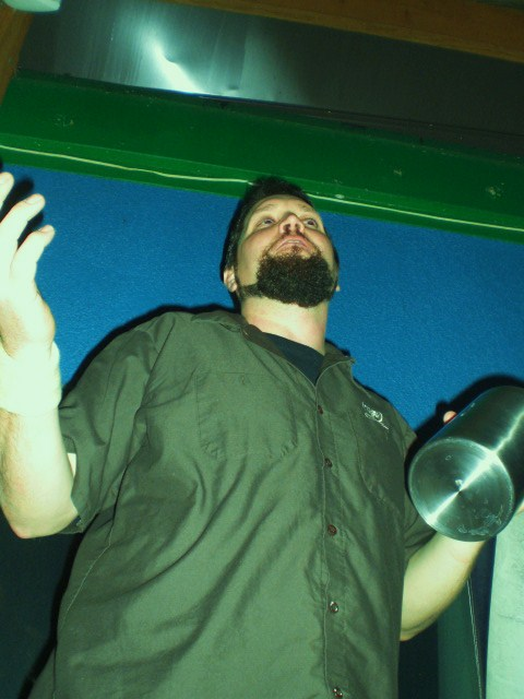 Oakshire Brewmaster Matt Van Wyk at O'Dark:30 CDA Release Party