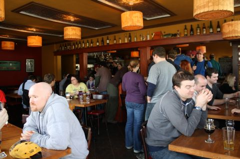 BrewPubliCrawl stop #1 at Victory Bar