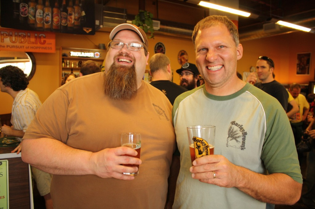 Barley Brown's Brewmaster Shawn Kelso (left) and owner Tyler Brown at the BeerMongers for BrewPubliCrawl  3/20/10