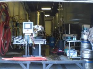 Soon to upgraded 6-head bottler at Ninkasi Brewing