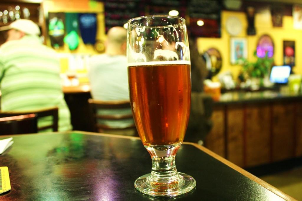 A glass of Hop Valley Alpha Centuri