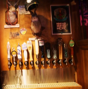Tap selection at the Jackelope in Eugene, Oregon