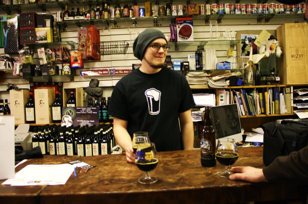 Drew Salmi at Corvallis Home Brew Supply shared some Pelican bourbon-aged barleywine