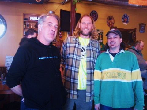 Ninkasi Brewing St. Patrick's Day Tasting at The BeerMongers: (l to r) Ninkasi brand manager Morgan Miller, Brewer Matthew Beatty, and The BeerMonger's Sean Campbell